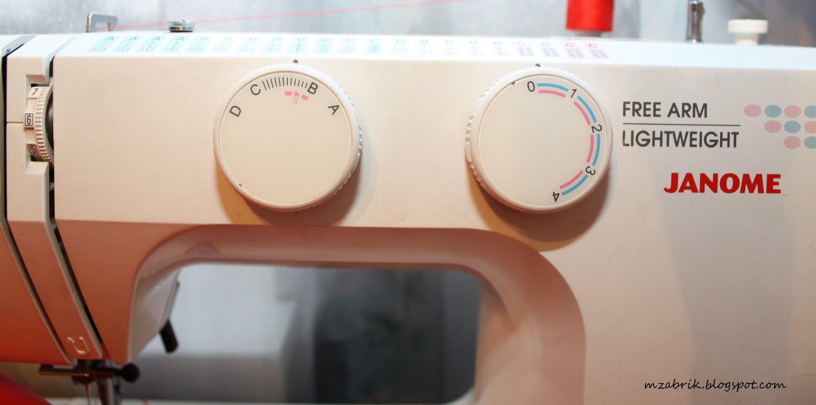 Петля для пуговицы на швейной машине Janome - Самошвейка 48