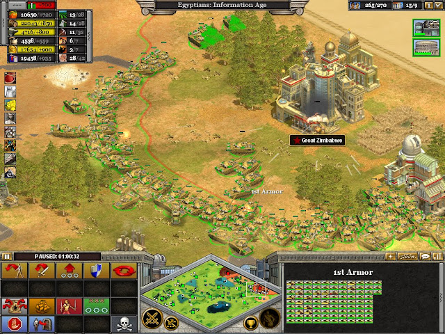 Rise of Nations A Swarm fo Tanks