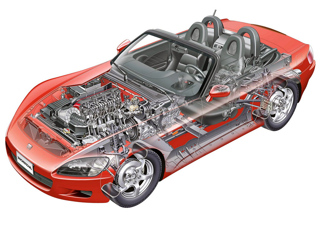 Honda S2000, sports, japoński sportowy samochód, roadster, 日本車, チューニングカー, スポーツカー