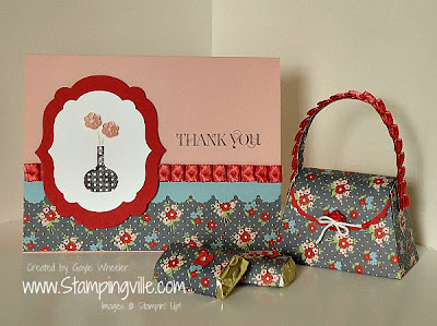 Stampin' Up! Bright Blossoms Card & Purse Combo