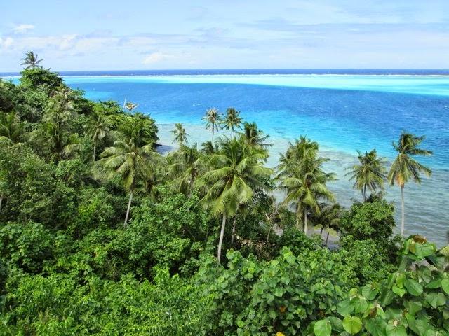 Lagon de Huahine en Polynesie