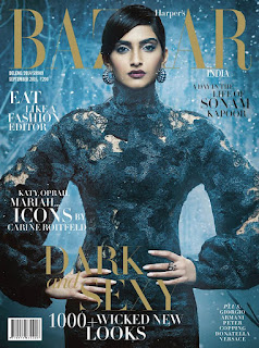 Sonam Kapoor Harper Bazaar India Magazine September 2015
