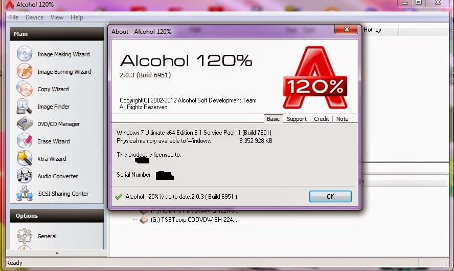Alcohol 120 CD and DVD Burning Software