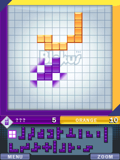 Screenshots of the Blokus Java Game for java mobile, phone.