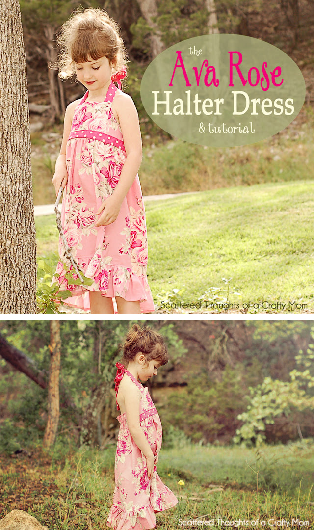 Free Halter Dress Tutorial w/ bodice pattern in size 3/4 5/6 and 7/8.