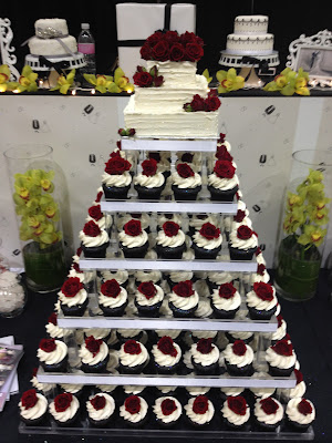 their amazing display of cupcakes they put out at the Seattle Wedding