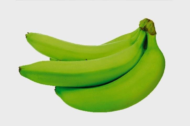 Green matoke bananas