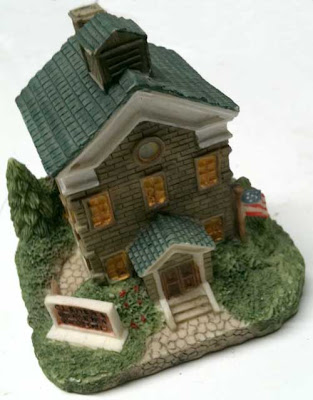 Resin cast gray school house