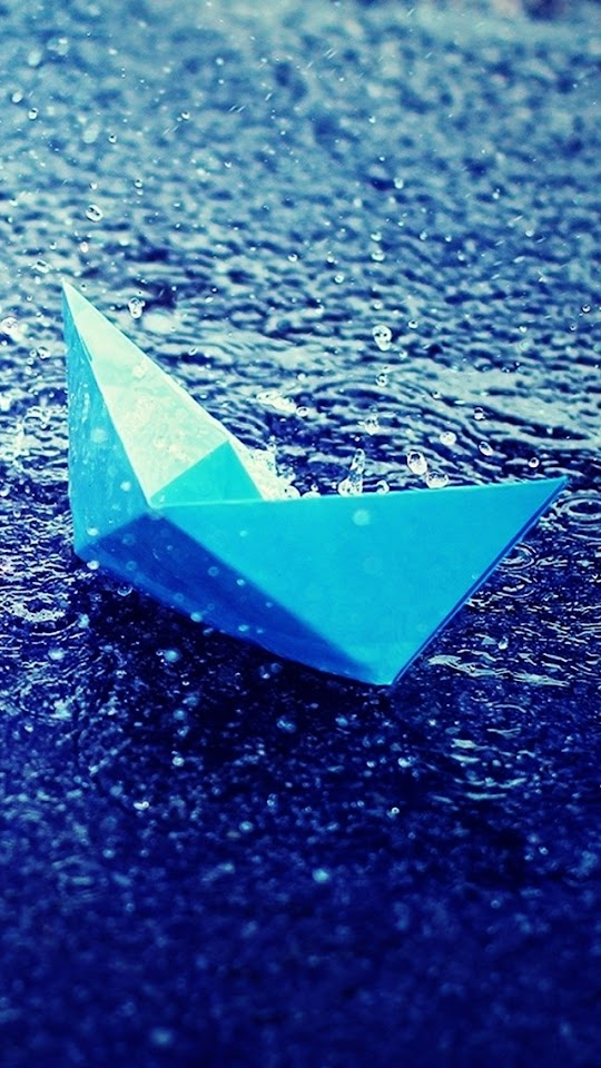 Paper Boat in Rain  Galaxy Note HD Wallpaper