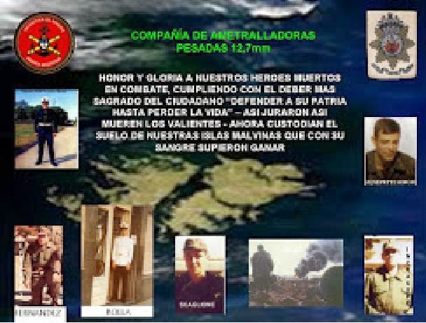 BANDERA CAIDOS MALVINAS COMPAÑIA