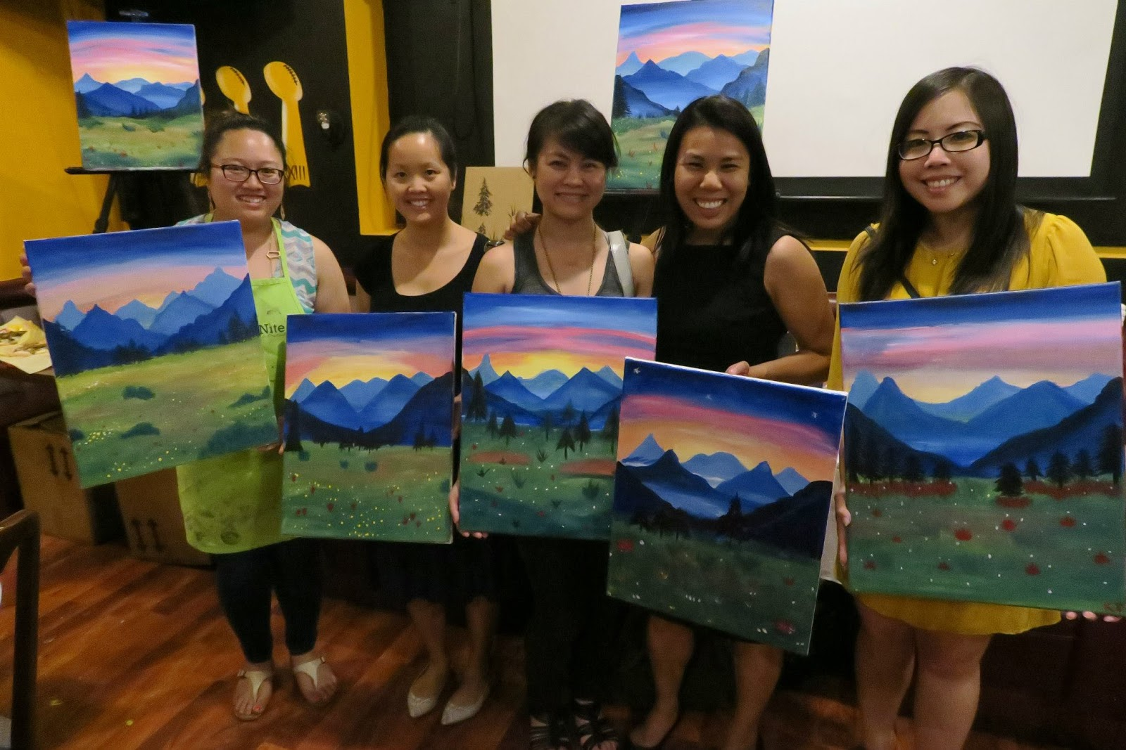 San jose food blog groupon deals for paint nite and glass for Groupon painting class