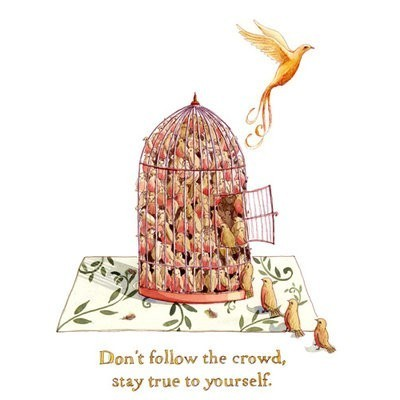quote, illustration, bird, cage,