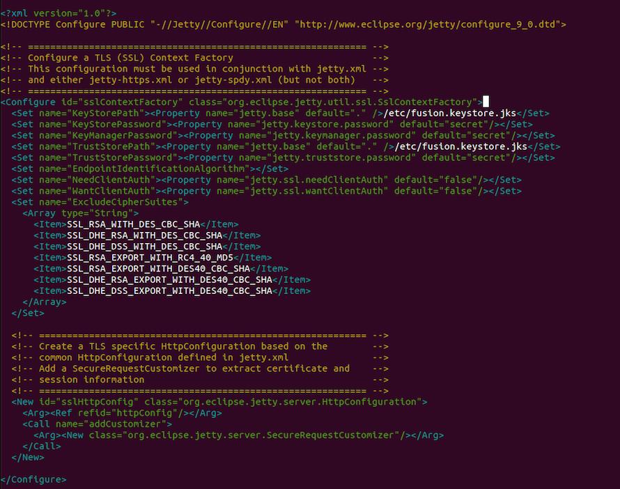 Enabling SSL on Fusion Admin UI
