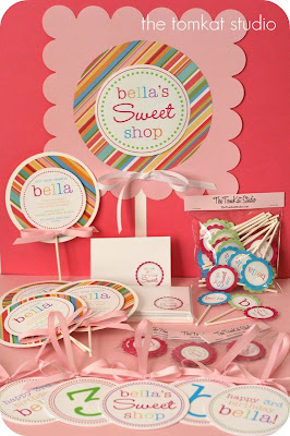 The tomkat studio birthday parties yummy lollipop birthday party it seems there is quite a demand for party packages that include more than just invitations thank you cards my sweet cupcake collection has had a ton stopboris Choice Image