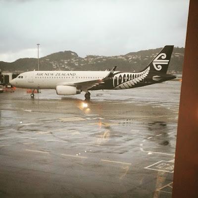 Air New Zealand plane, wellington airport