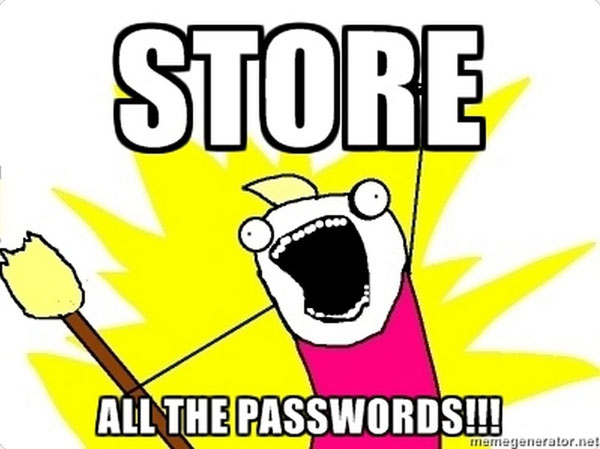 store all the passwords meme