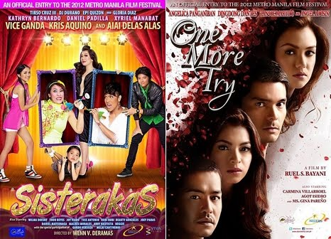 MMFF 2012 Six Day Gross and Box Office Results: One More Try Breaches P100-M Mark, Sisterakas is still Top grosser