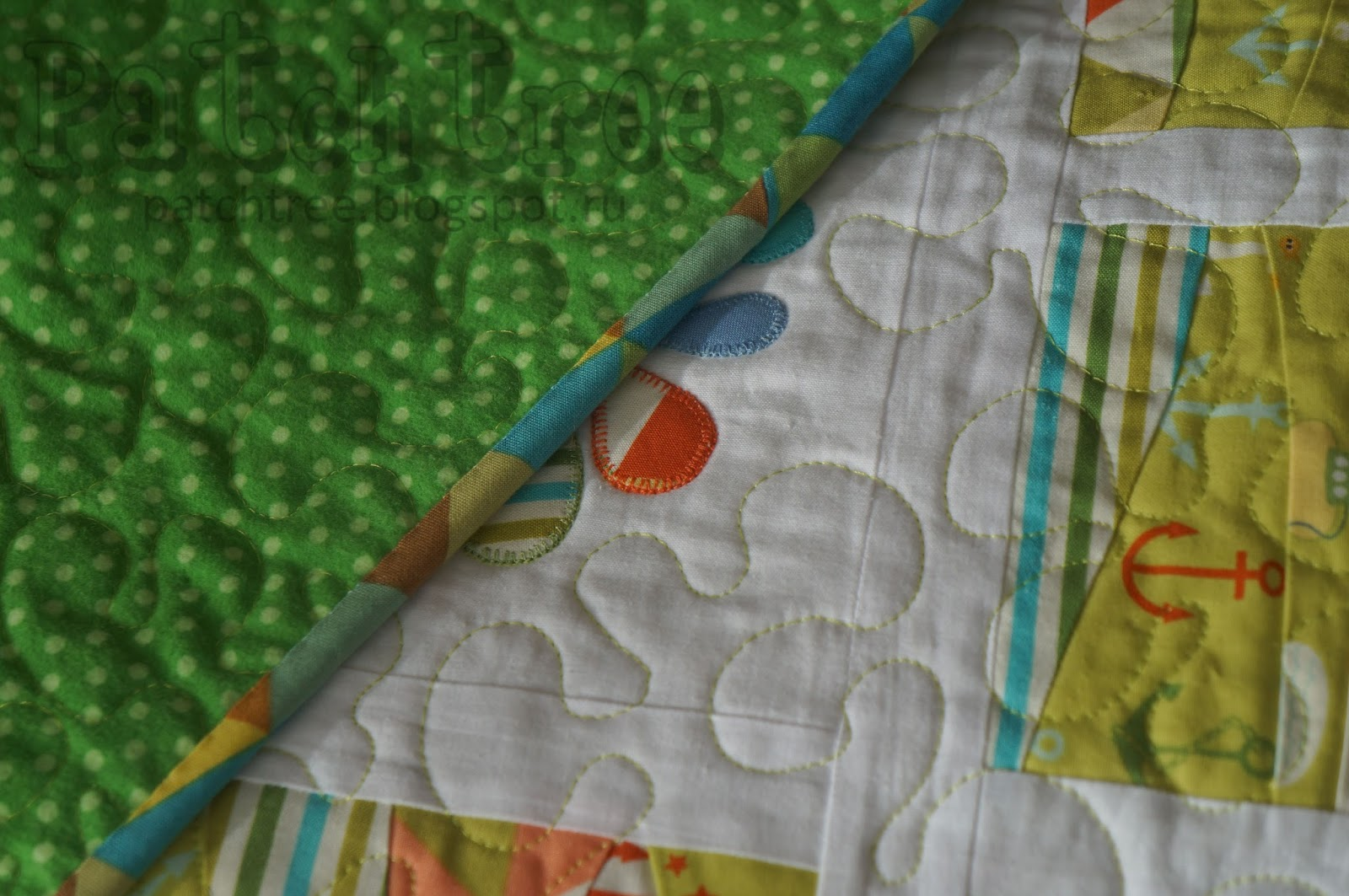 Стежка лоскутного одеяла