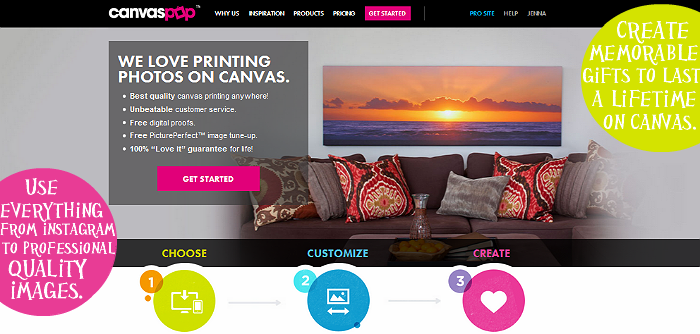 canvas printing online