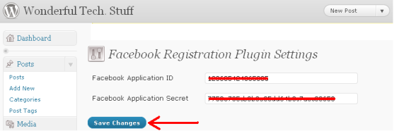 whirlpool integrate facebook into application