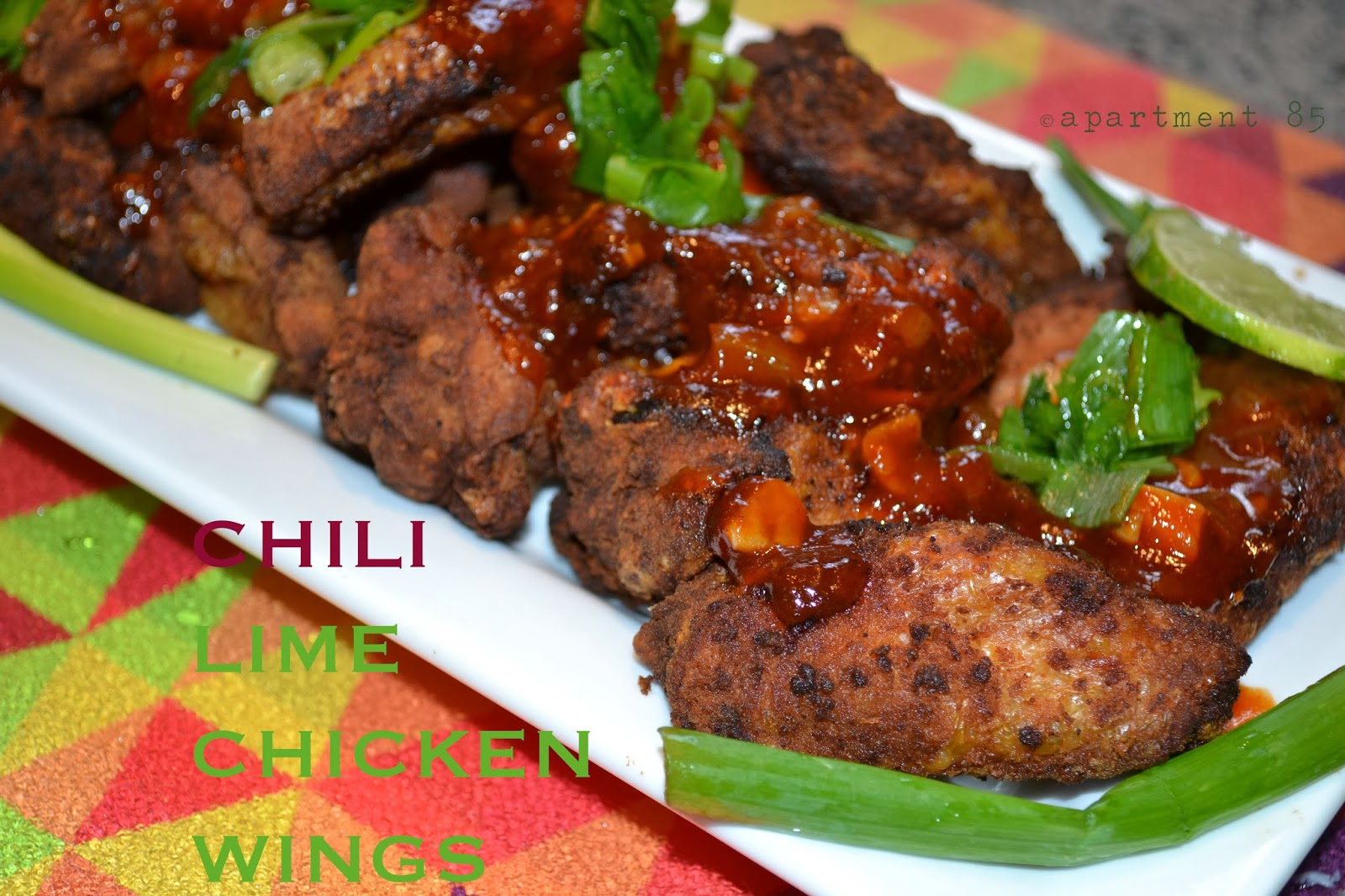 Chili Lime Chicken Wings ~ From Apt. 85 | A Lifestyle Blog ...