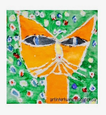 Art Intertwine - Paul Klee Cat and Bird Batik
