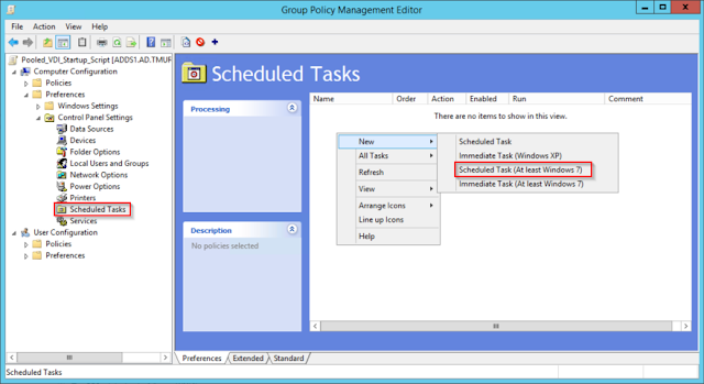 Create a new Scheduled Task using Group Policy Preferences