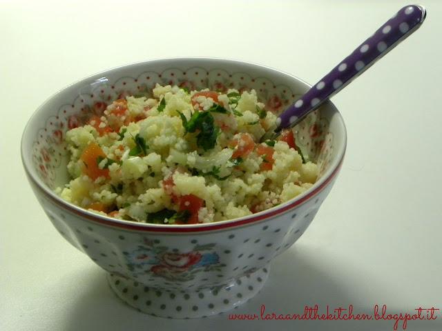 insalata di cous cous cipollotti e prezzemolo