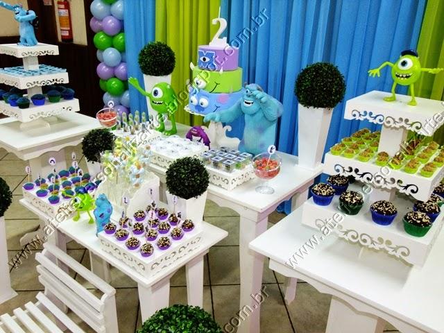 Decoração de festa infantil Universidade Monstros Porto Alegre