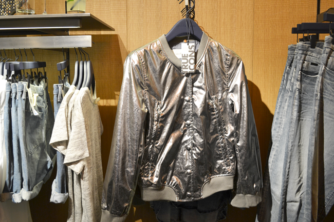 silver jacket Calvin Klein, Calvin Klein True Icons Jacket, silver metallic jacket