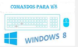 Comandos de acceso directo en windows 8