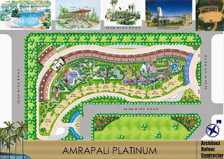 Amrapali Platinum :: Site Plan