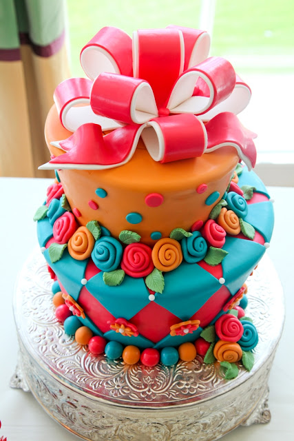 Walt Disney World Wedding - Colorful Cake