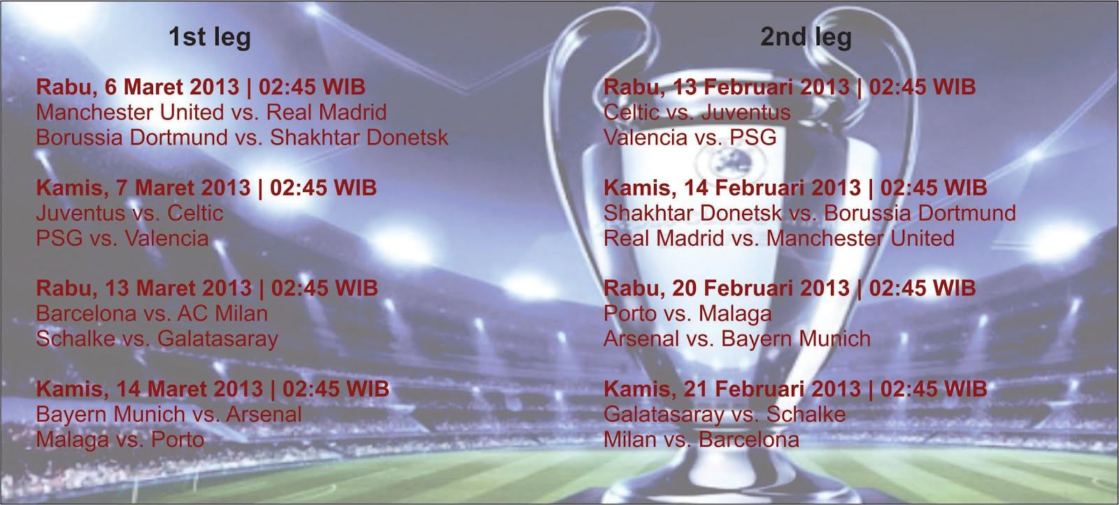Jadwal 16 Besar Liga Champion Sctv