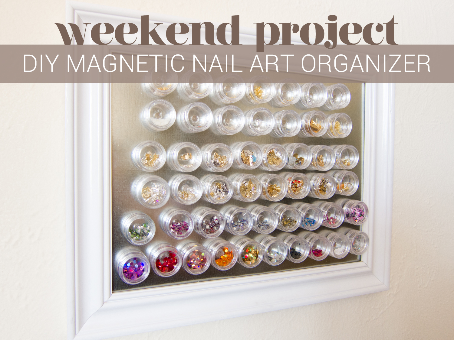 Diy Project Magnetic Nail Art Organizer Chalkboard