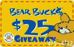 Build-A-Bear $25 Bear Buck$ Giveaway