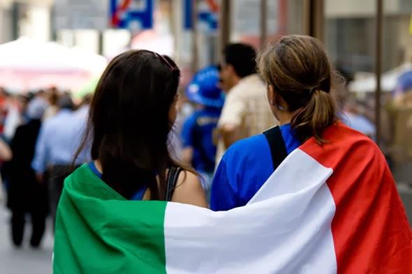 Итальянцы и любовь к футболу