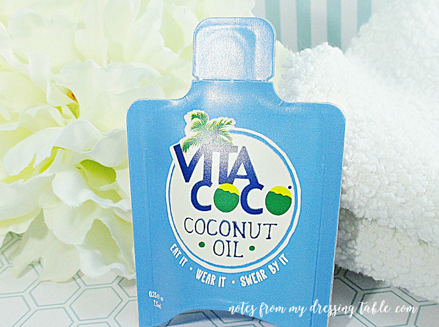 skin care sample extravaganza vita coco coconut oil notes from my dressing table