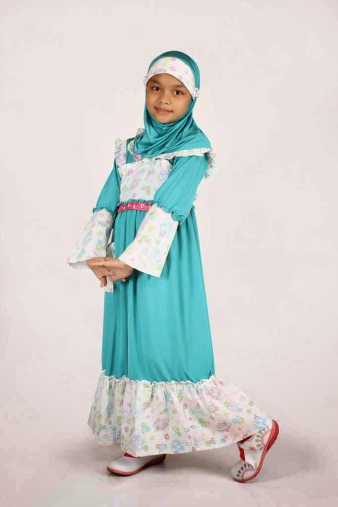 Gambar baju muslim anak perempuan untuk sehari-hari