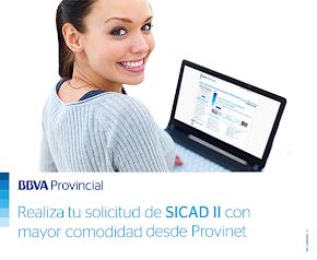 Realiza tus solicitudes de Sicad II por Provinet