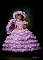 Me in my lavander Azlaea Trail Maid dress