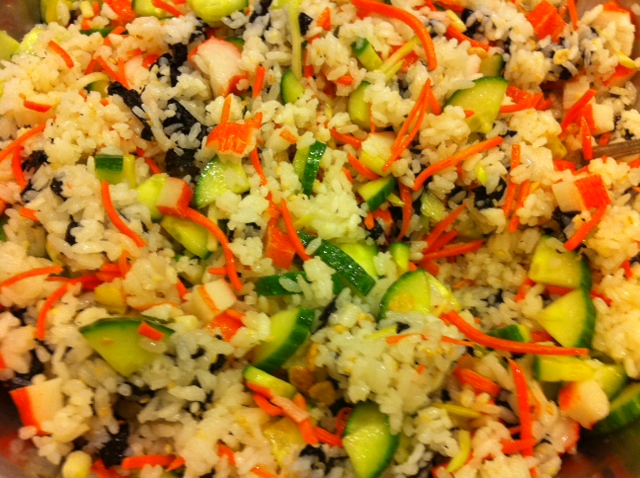 Erin's Kosher Cooking Adventures: Sushi Salad