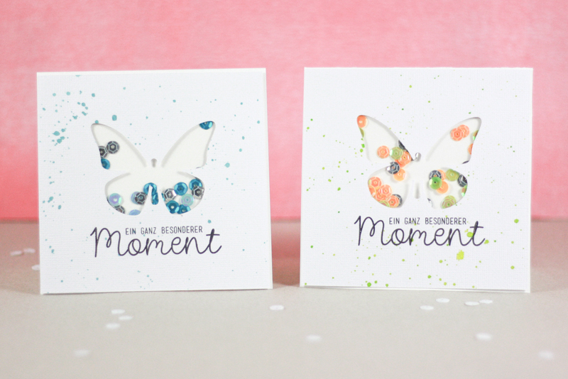 Sizzix Card Making Ideas Part - 19: Butterfly Greeting Cards With Sequins