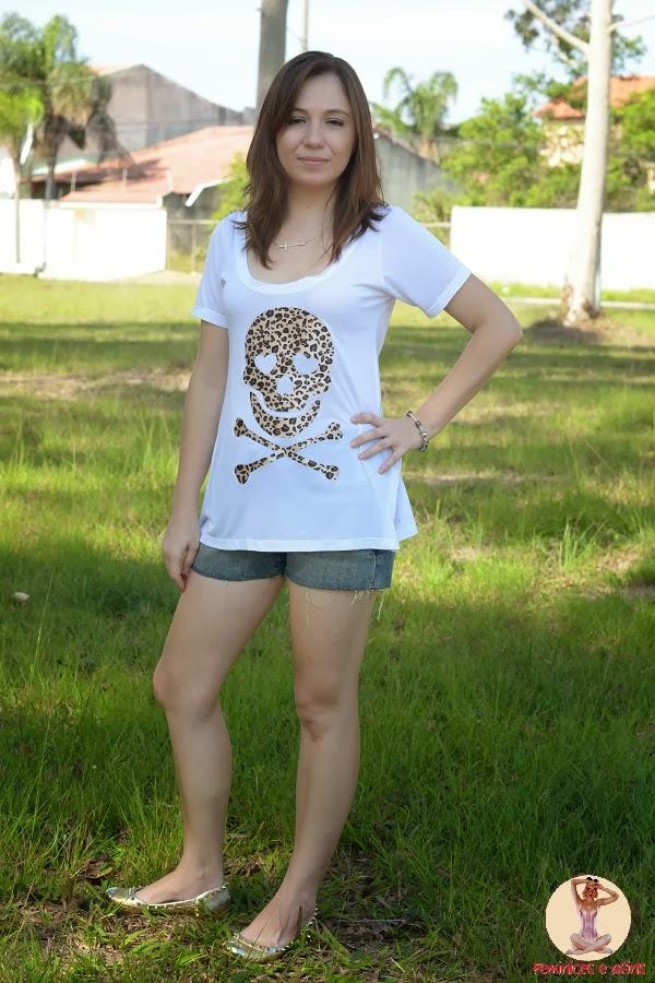 T-shirt Skull Onça Xquisite