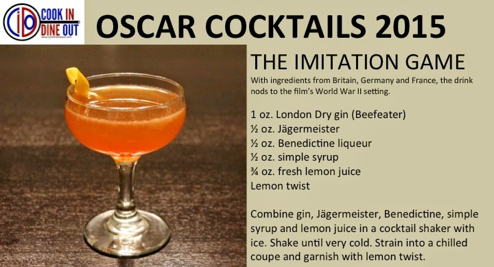 Cook In / Dine Out 2015 Oscar Cocktails The Imitation Game