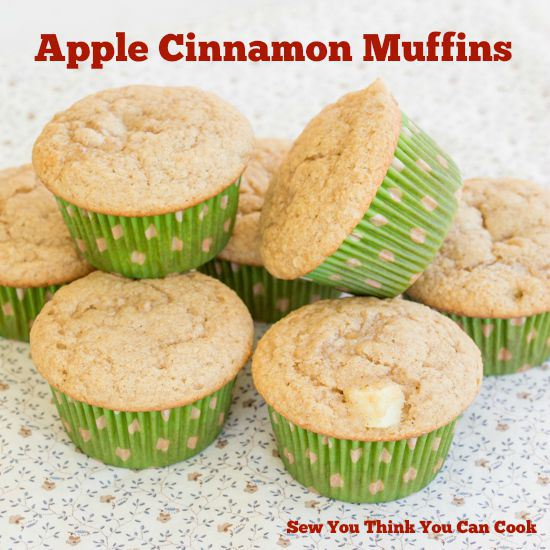 Most Popular Recipe of the Week | Apple Cinnamon Muffins from Sew You Think You Can Cook #SecretRecipeClub #recipe #muffins #apple