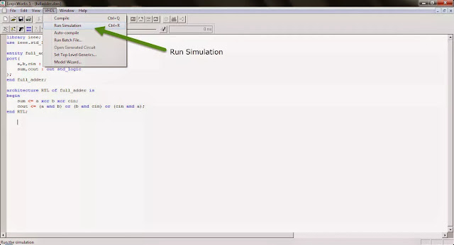run simulation in logicwork