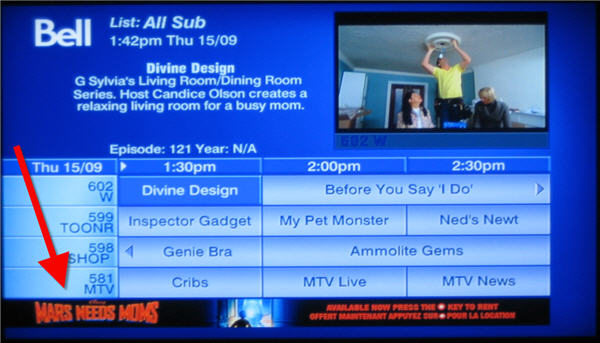 Get our latest channel lineup at: bell.ca/fibetvchannels