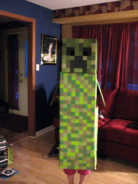 minecraft costume creeper auto design tech. Black Bedroom Furniture Sets. Home Design Ideas