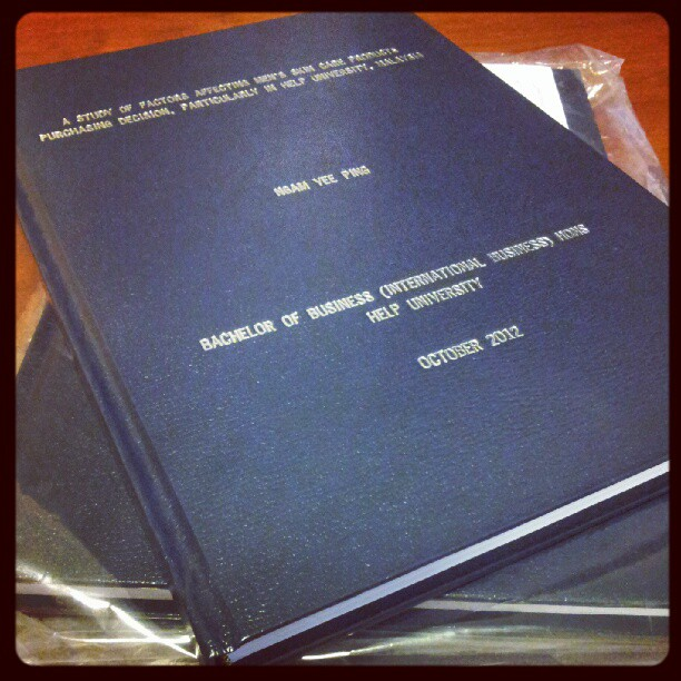 Hard bound thesis belfast